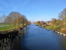 Blick in Richtung der Mündung des Mookkanals in die Maas