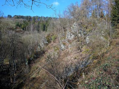 Felsen oberhalb des Kalltals