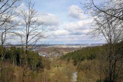 Blick ins nördliche Sauerland vom Aussichtspunkt nahe der Möhnequelle