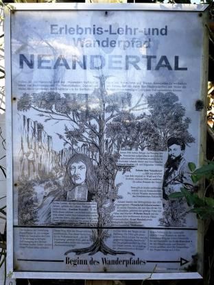 Beginn des alten Neandertal-Wanderpfads