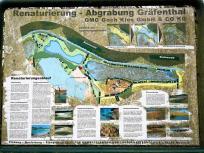 Infotafel zur Renaturierung der Seen