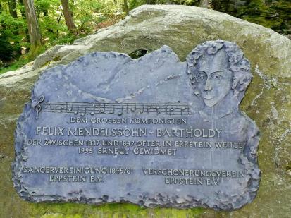 Gedenkstein für den Komponisten Mendelsohn Bartholdy