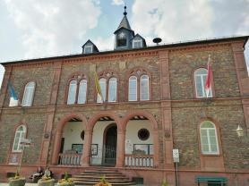 Das Rathaus von Geisenheim