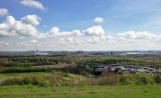 Blick von der Halde Richtung Ruhrgebiet