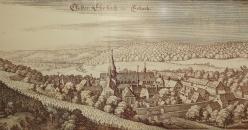 Historischer Stich der Klosteranlage