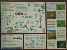 Karte am Lahntal Radwanderweg
