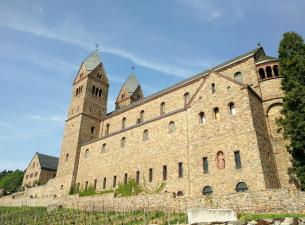 Abteikirche von St.Hildegard, Seitenansicht