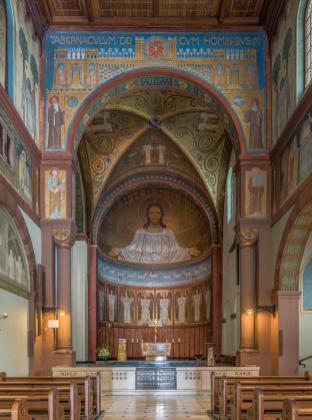 Innenraum der Abteirkirche (Foto DXR   http://commons.wikimedia.org   Lizenz: CC BY-SA 3.0 DE)