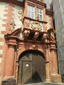 Portal mit Erker am Minnigerode-Haus, dem Regionalmuseum Alsfeld