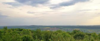 Blick von der Quastholle in Richtung Rhoden (Südwestlich)