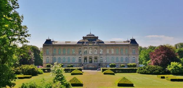 Blick vom Schloss zum Herzoglichen Museum