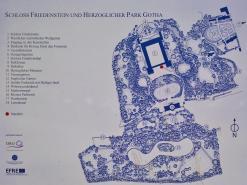 Übersichtsplan von Schloss und Schlosspark