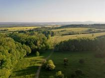 Blick nach Süden Richtung Thüringer Wald