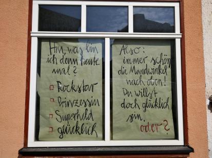Philosophisches in einem Schaufenster