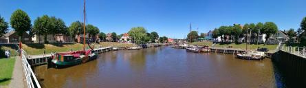Panoramablick in den Alten Hafen von Carolinensiel