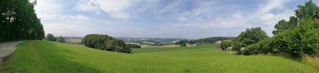 Panoramablick Richtung Südwesten, aufgenommen am Driesberg bei Nökel