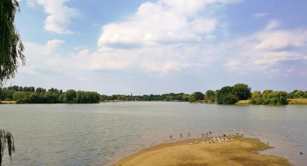Blick vom Südufer über den See