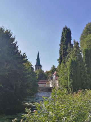 Blick über die Stever zur Felizitas Kirche