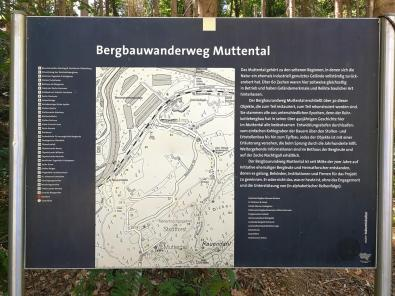 Infotafel am Start des Bergbauwanderwegs Muttental