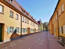 """""""Hauptstraße"""" der Siedlung"""