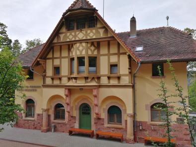 Stationsgebäude der Heidelberger Bergbahn an der Molkenkur