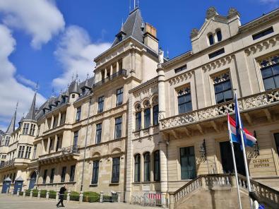 In diesem historischen Prachtbau ist das Außenministerium des Herzogtums untergebracht