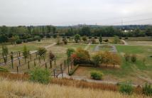 Ein Teil des Nodsternparks von der Anhöhe aus gesehen
