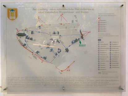 Lageplan der Häuser in der historischen Altstadt von Bad Camberg