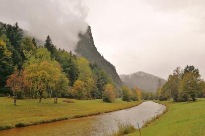 An der Ammer zwischen Oberammergau und Ettal