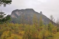 Blick in nördlicher Richtung über das Moos auf den Vorderen Rappenkopf und den Kofel