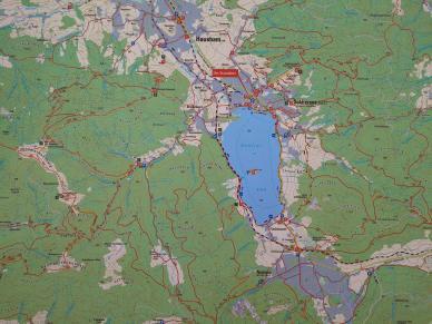 Karte der Region um den Schliersee