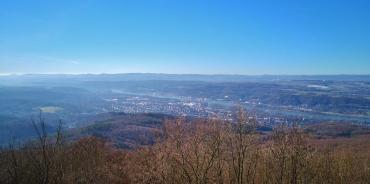 Blick von der Löwenburg hinunter nach Bad Honnef