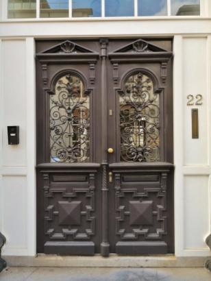 Typische Haustür im historischen Zentrum von Den Haag