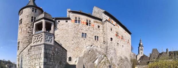 Panoramabild der Burg
