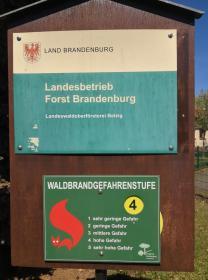 Im Brandenburg herrscht aufgrund der Dürre zur Zeit die zweithöchste Waldbrandgefahrenstufe