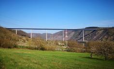 Blick zurück zur Moseltalbrücke