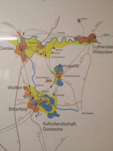 Übersichtskarte des Tagebau-Reviers