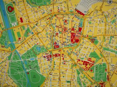 Stadtplan der Innenstadt