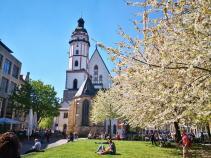 Die Thomaskirche an der Thomaswiese mitten im Zentrum