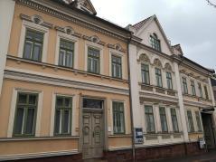 Reonstruierte Häuserzeile in der Altstadt