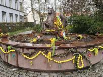 Der 1736 errichtete Meerpferdebrunnen