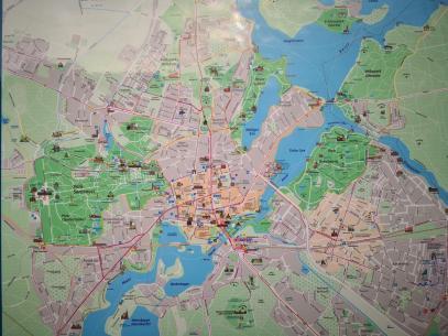 Plan der Innenstadt von Potsdam