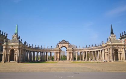 Säulengang in der Mitte der Communs
