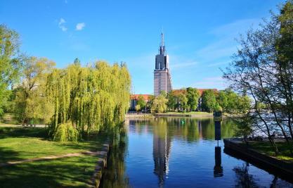 Blick zur Mündung der Nuthe in die Havel