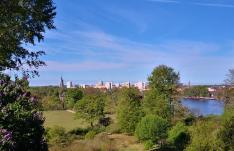 Blick hinüber zur Skyline von Potsdam
