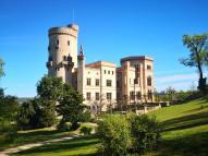 Annäherung an das Schloss Babelsberg