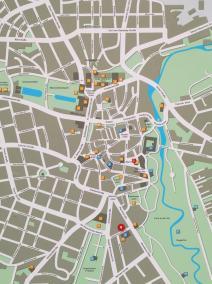 Plan der Innenstadt von Weimar