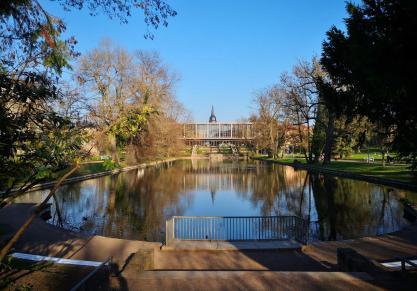 See im Weimarhallenpark in der Nähe unseres Womo-Stellplatzes