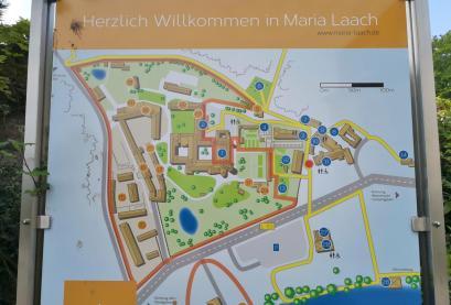 Lageplan der Abtei