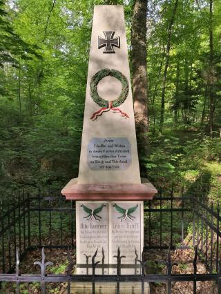 Ehrenmal im Kammerforst für zwei im Deutsch-Französischen-Krieg 1870/71 gefallene Förster